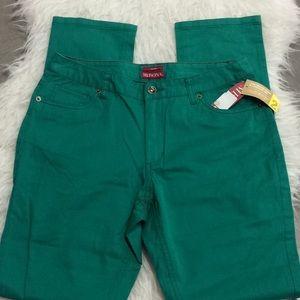 Merona green twill just below the waist pant
